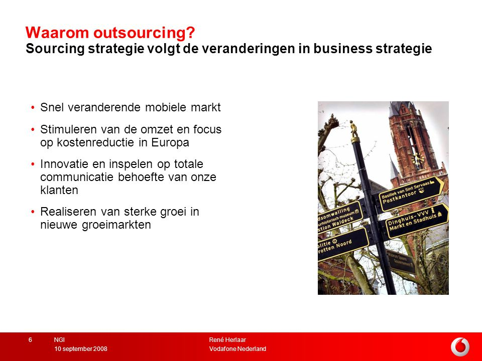 Waarom outsourcing Sourcing strategie volgt de veranderingen in business strategie