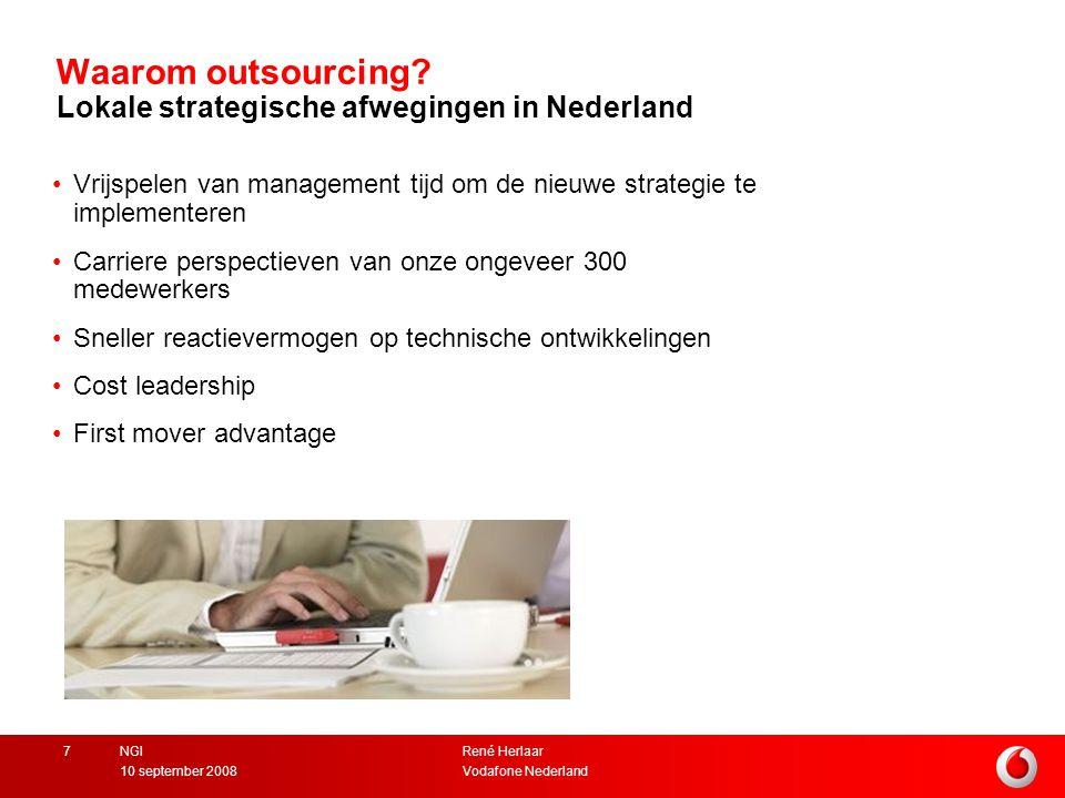 Waarom outsourcing Lokale strategische afwegingen in Nederland