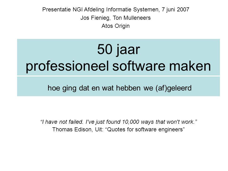 50 jaar professioneel software maken