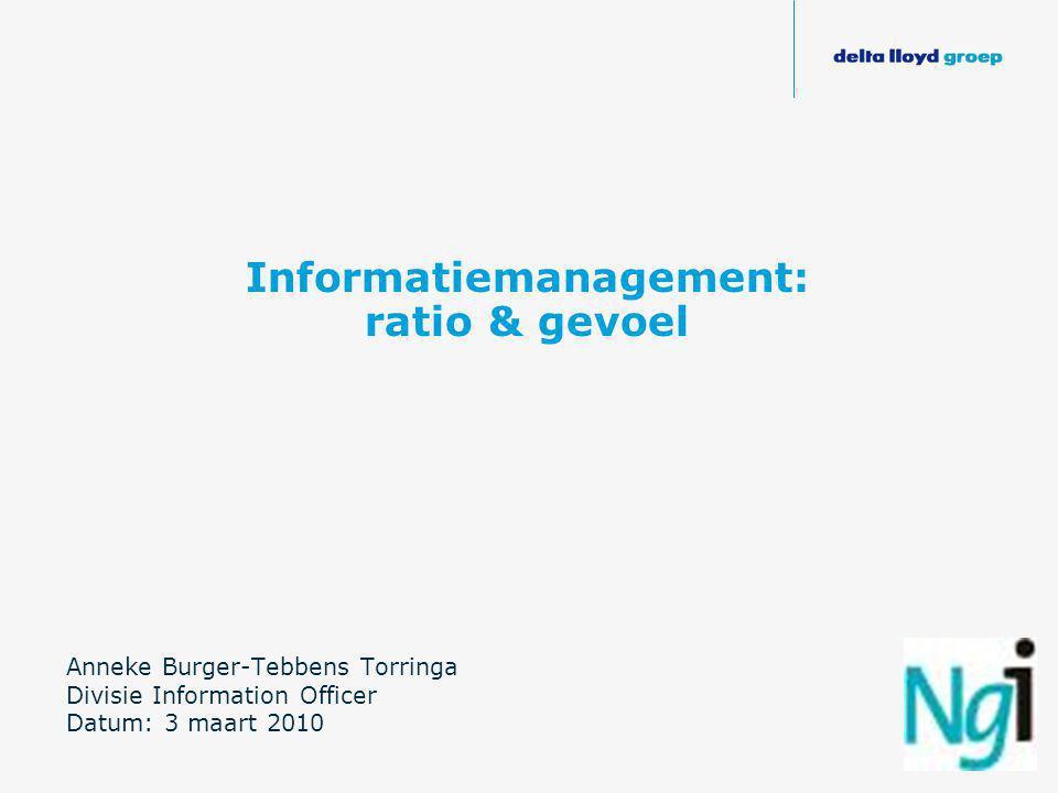 Informatiemanagement: ratio & gevoel
