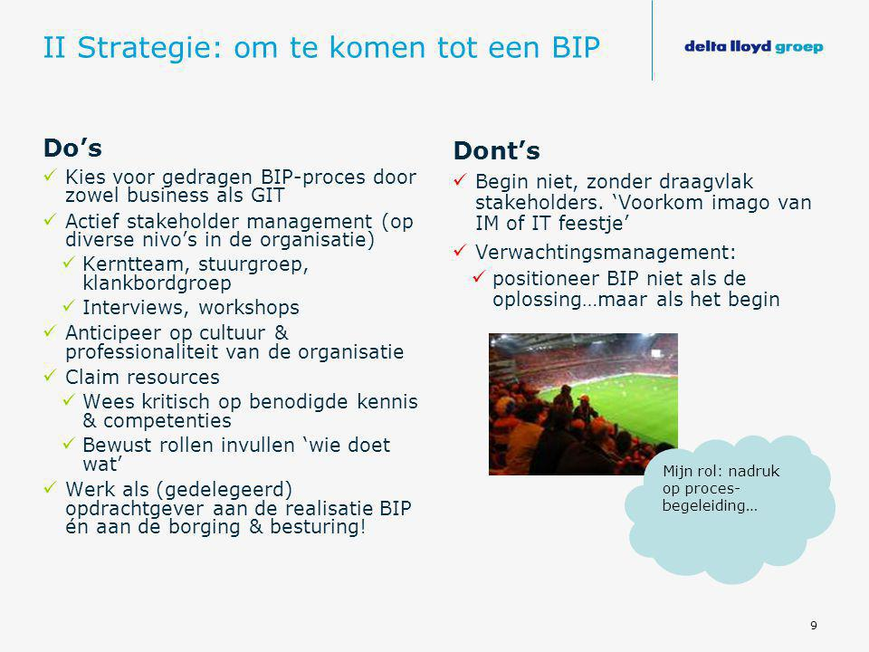 II Strategie: om te komen tot een BIP