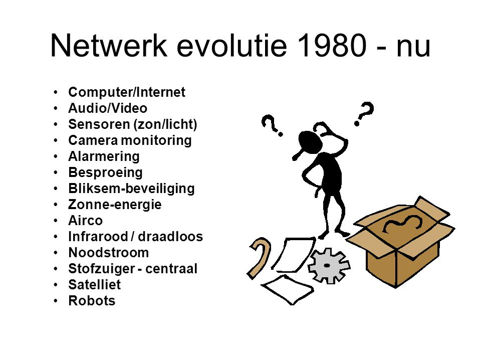Netwerk evolutie 1980 - nu Computer/Internet Audio/Video
