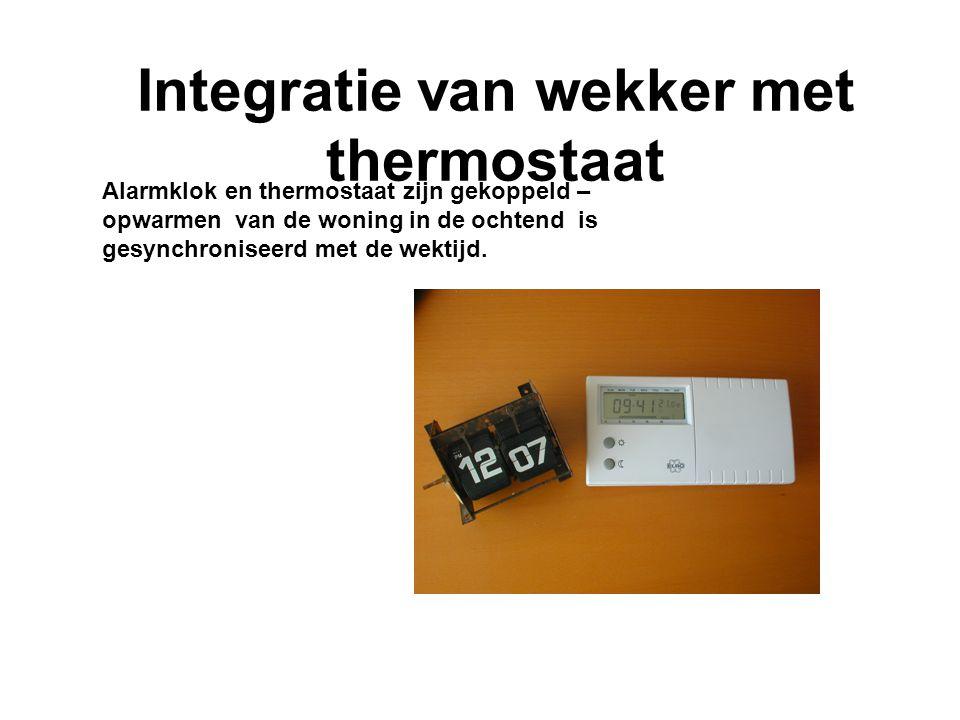 Integratie van wekker met thermostaat