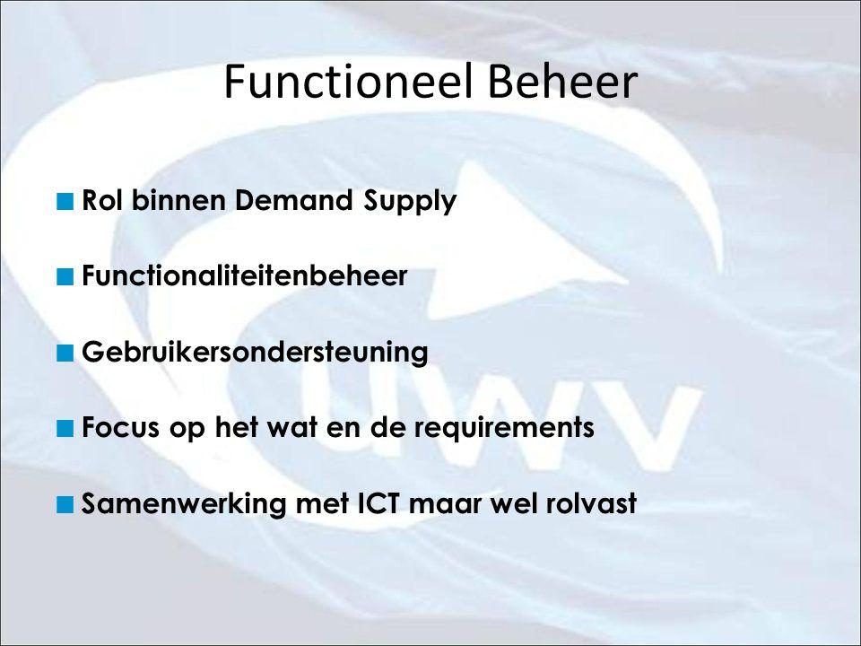 Functioneel Beheer Rol binnen Demand Supply Functionaliteitenbeheer