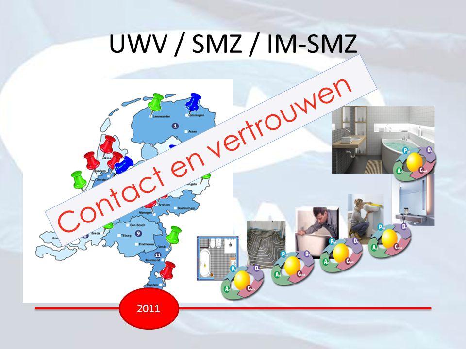 UWV / SMZ / IM-SMZ Contact en vertrouwen 2011 Het waarom (opbouw)