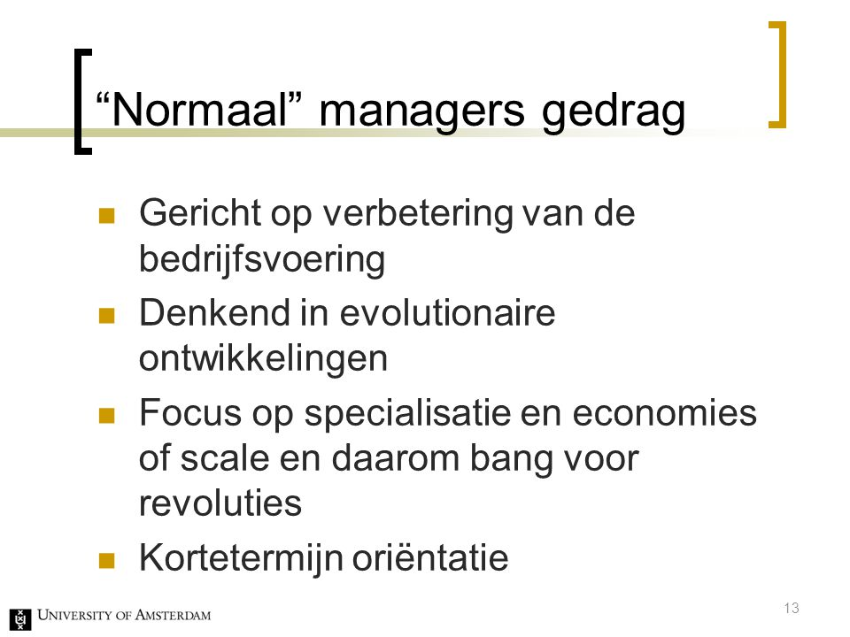 Normaal managers gedrag