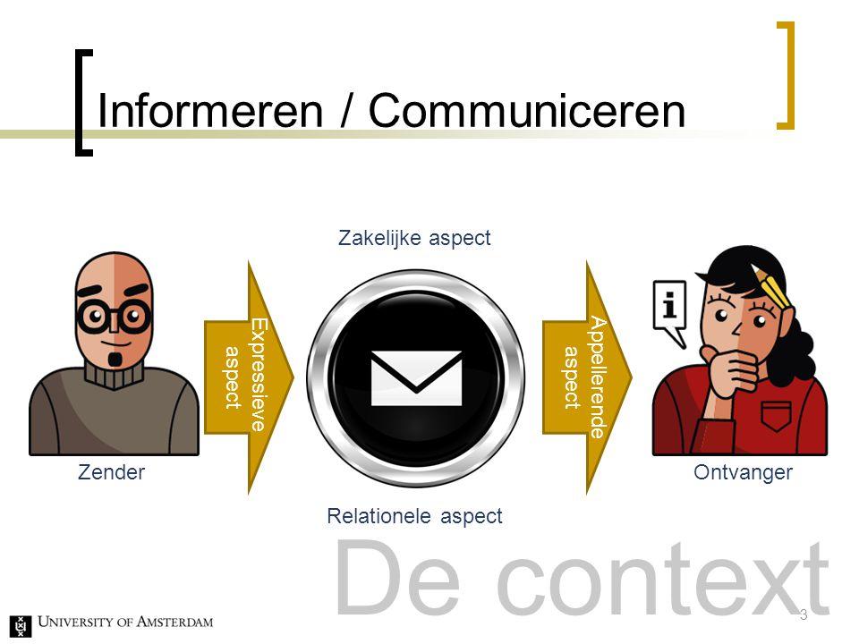 Informeren / Communiceren
