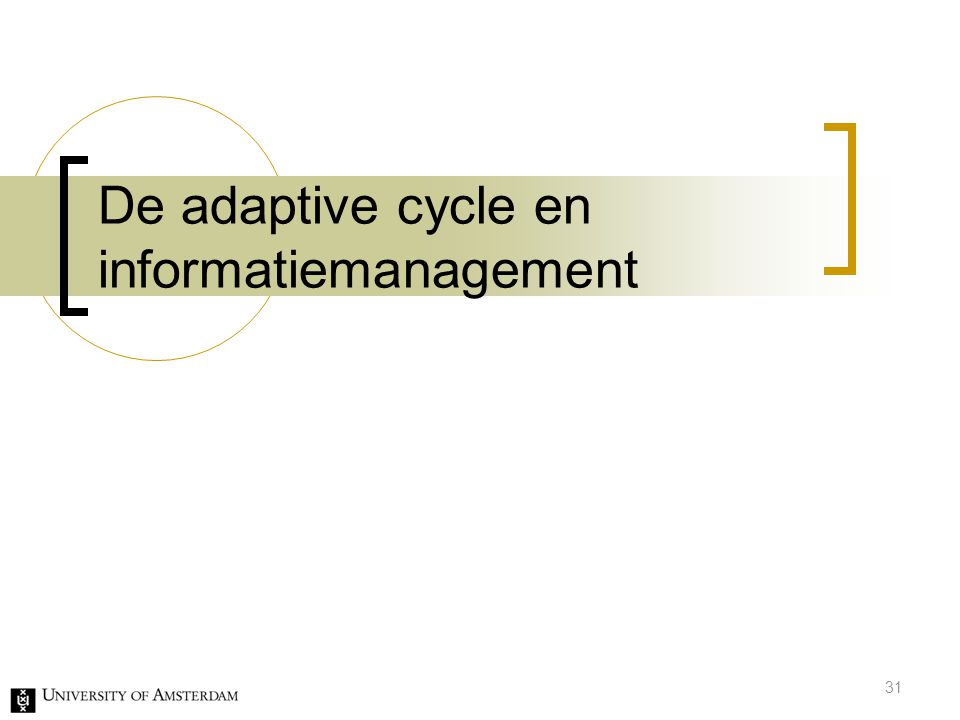 De adaptive cycle en informatiemanagement