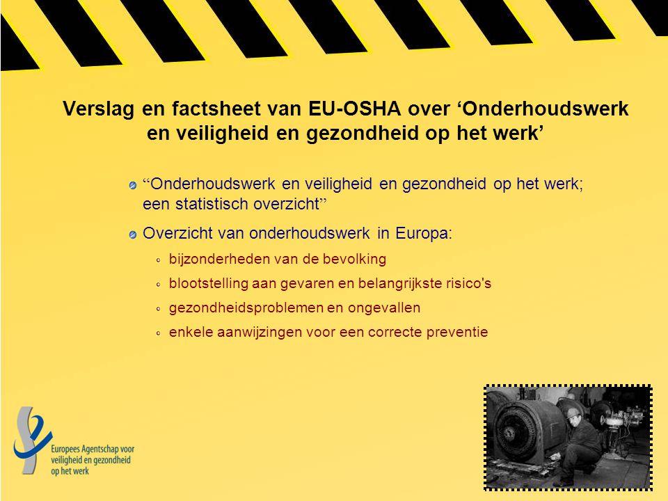 Verslag en factsheet van EU-OSHA over 'Onderhoudswerk en veiligheid en gezondheid op het werk'
