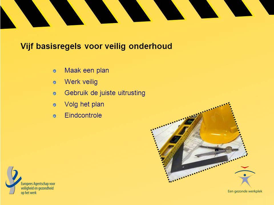 Vijf basisregels voor veilig onderhoud