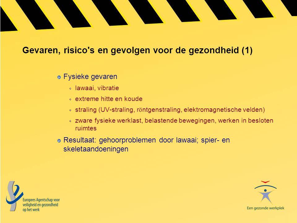 Gevaren, risico s en gevolgen voor de gezondheid (1)