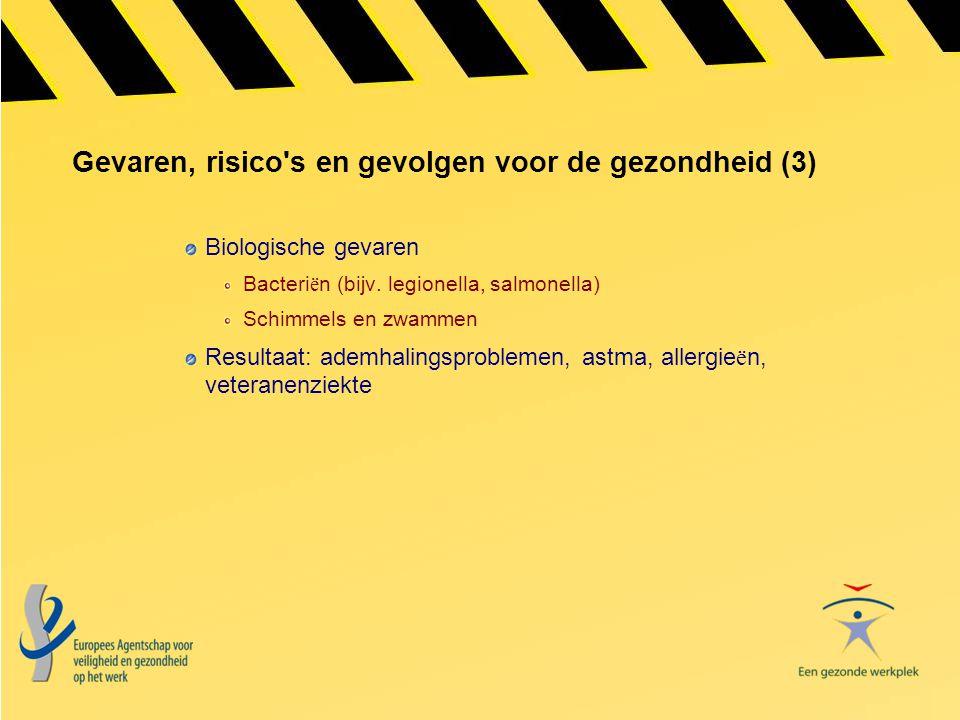 Gevaren, risico s en gevolgen voor de gezondheid (3)