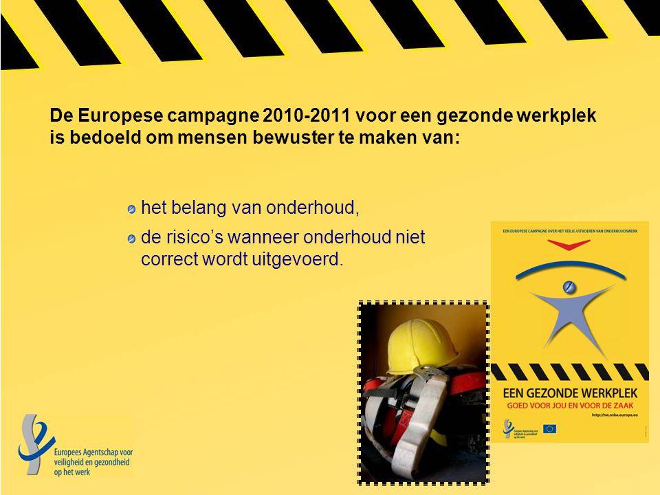 De Europese campagne 2010-2011 voor een gezonde werkplek is bedoeld om mensen bewuster te maken van: