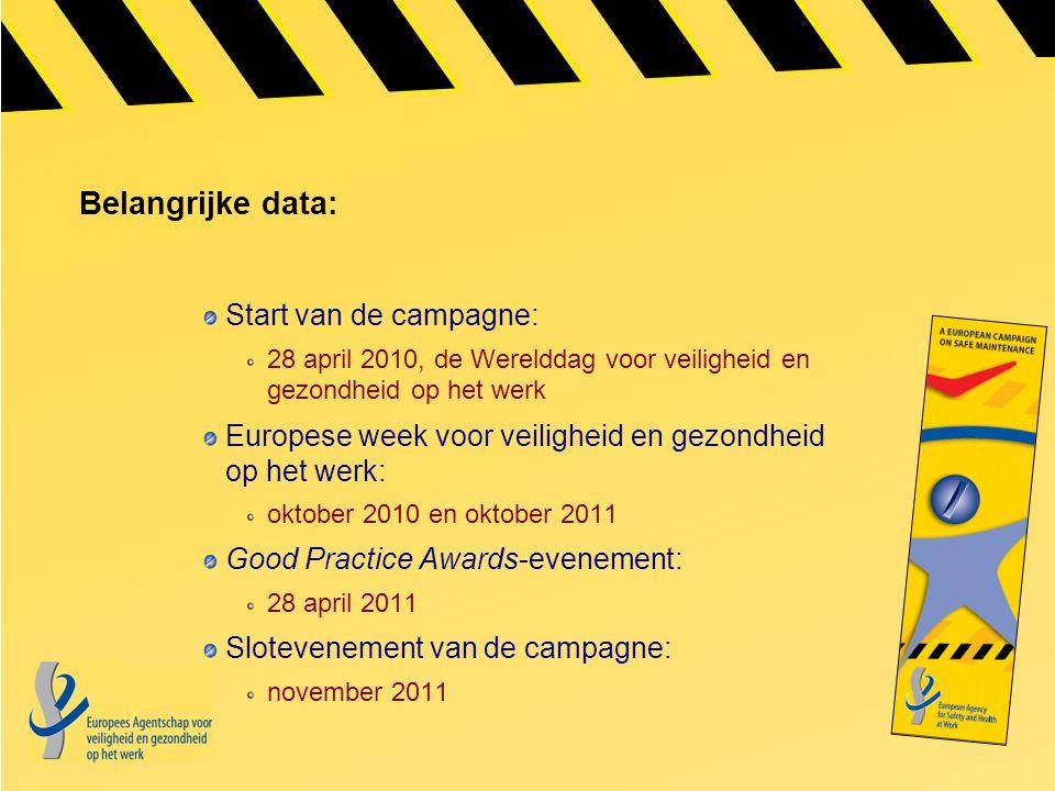 Belangrijke data: Start van de campagne: