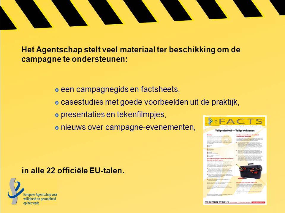 Het Agentschap stelt veel materiaal ter beschikking om de campagne te ondersteunen: