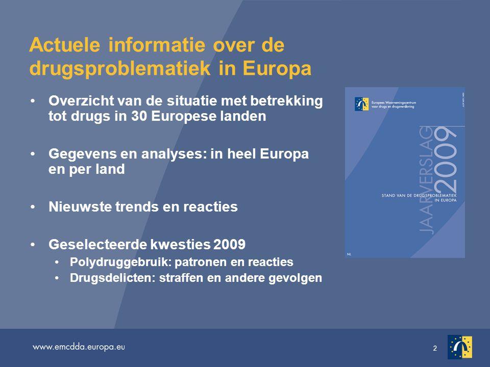 Actuele informatie over de drugsproblematiek in Europa