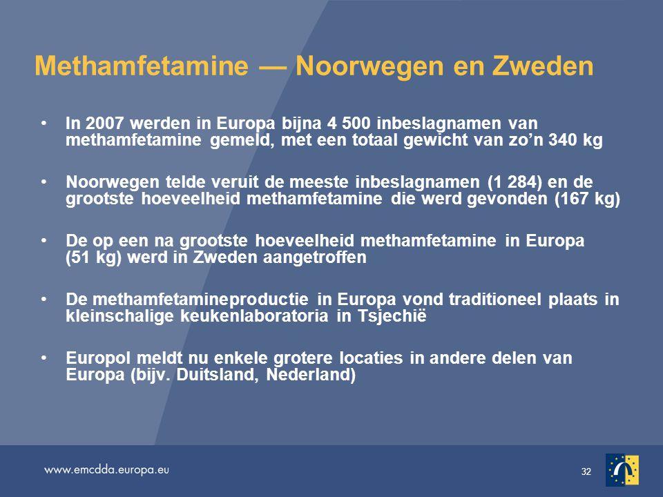 Methamfetamine — Noorwegen en Zweden