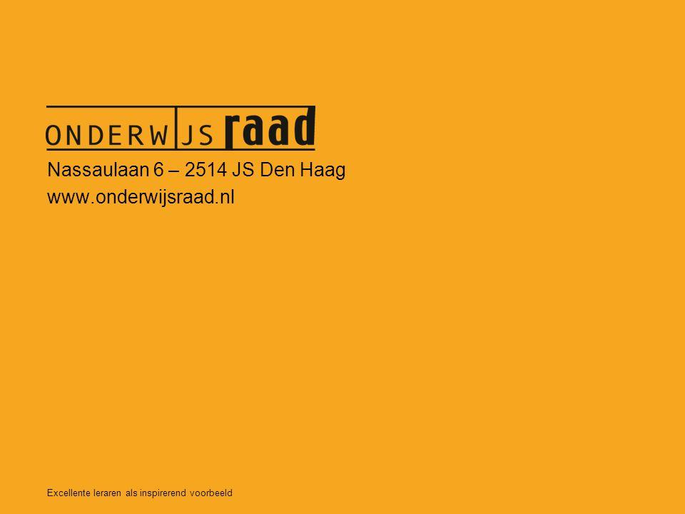 Nassaulaan 6 – 2514 JS Den Haag www.onderwijsraad.nl