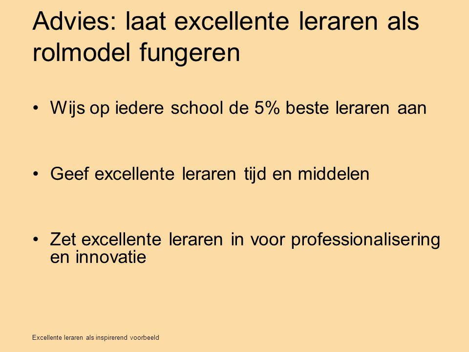Advies: laat excellente leraren als rolmodel fungeren