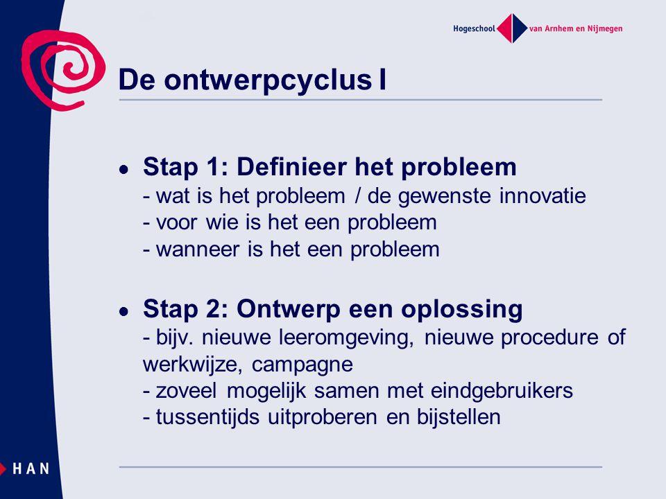 De ontwerpcyclus I