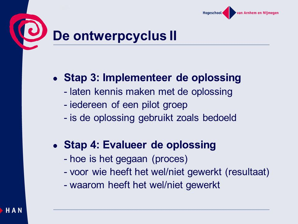 De ontwerpcyclus II