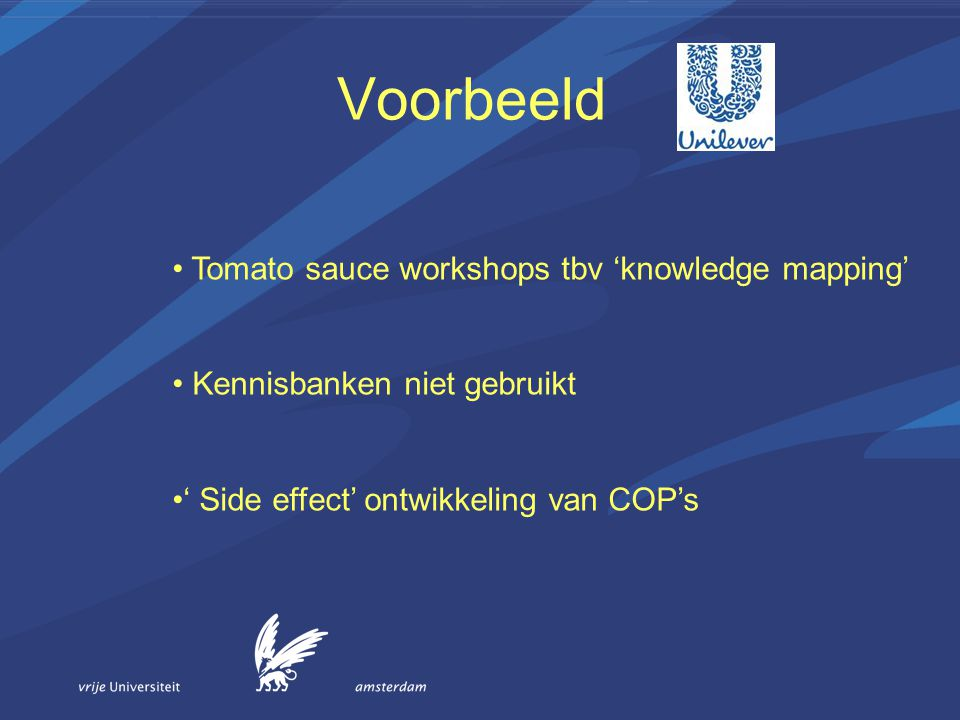 Voorbeeld Tomato sauce workshops tbv 'knowledge mapping'
