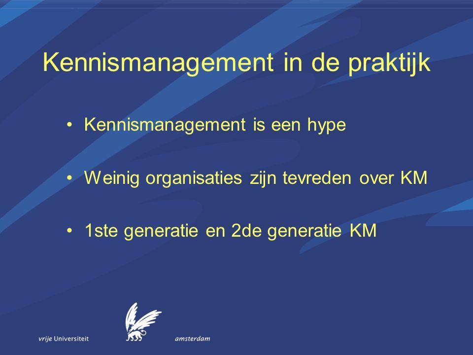 Kennismanagement in de praktijk