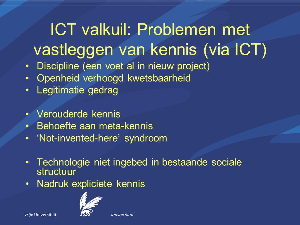 ICT valkuil: Problemen met vastleggen van kennis (via ICT)