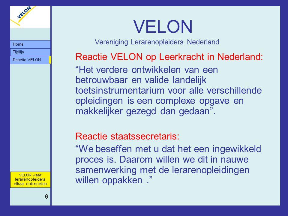 VELON Reactie VELON op Leerkracht in Nederland: