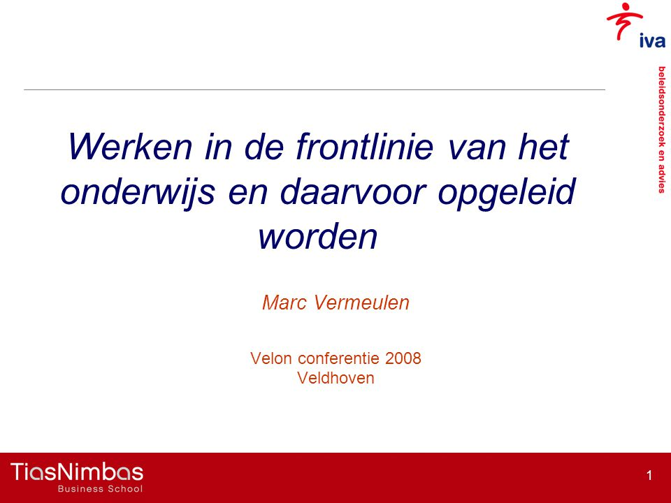 Marc Vermeulen Velon conferentie 2008 Veldhoven