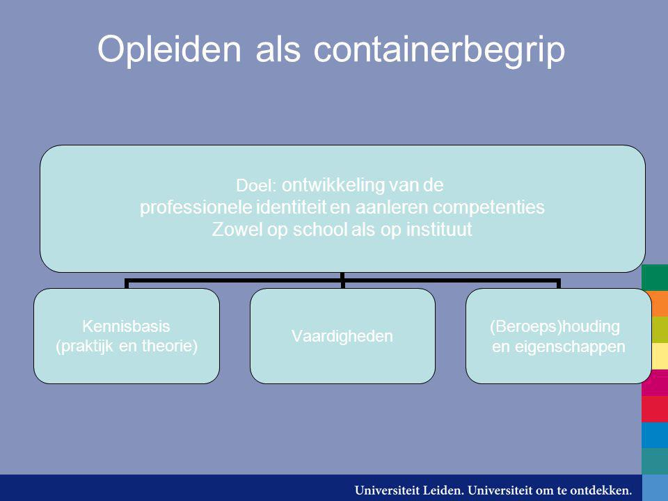 Opleiden als containerbegrip