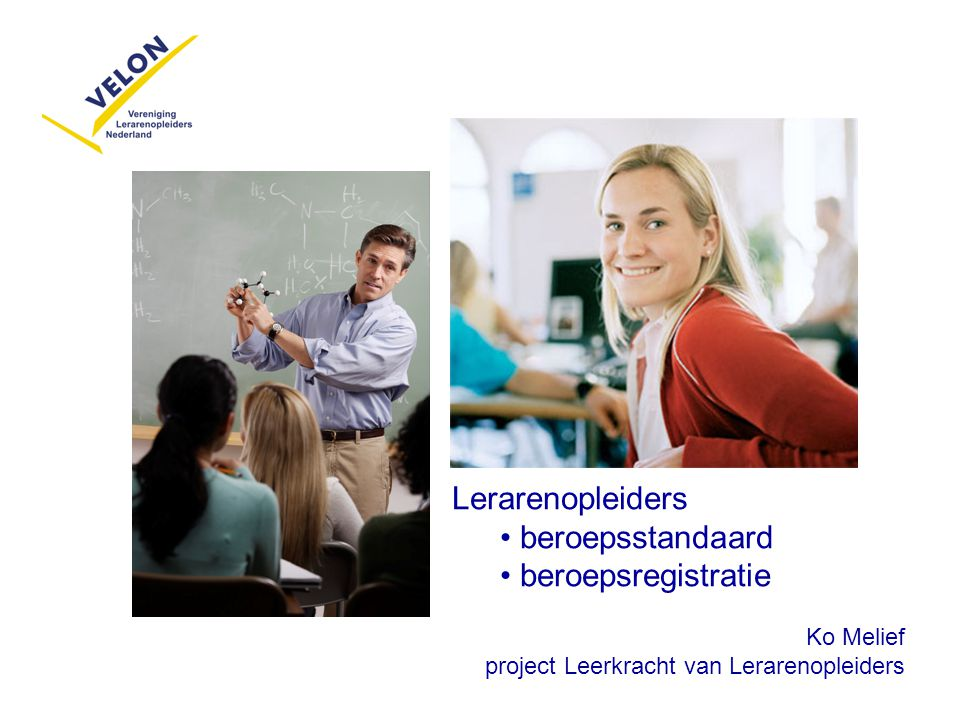 Lerarenopleiders beroepsstandaard beroepsregistratie Ko Melief