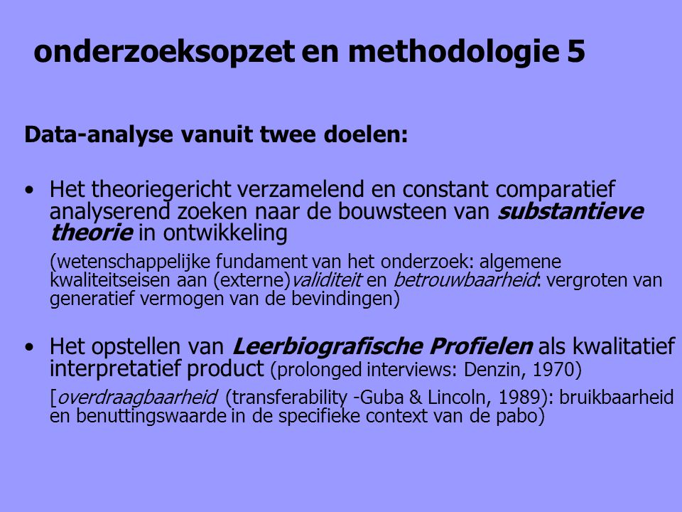 onderzoeksopzet en methodologie 5