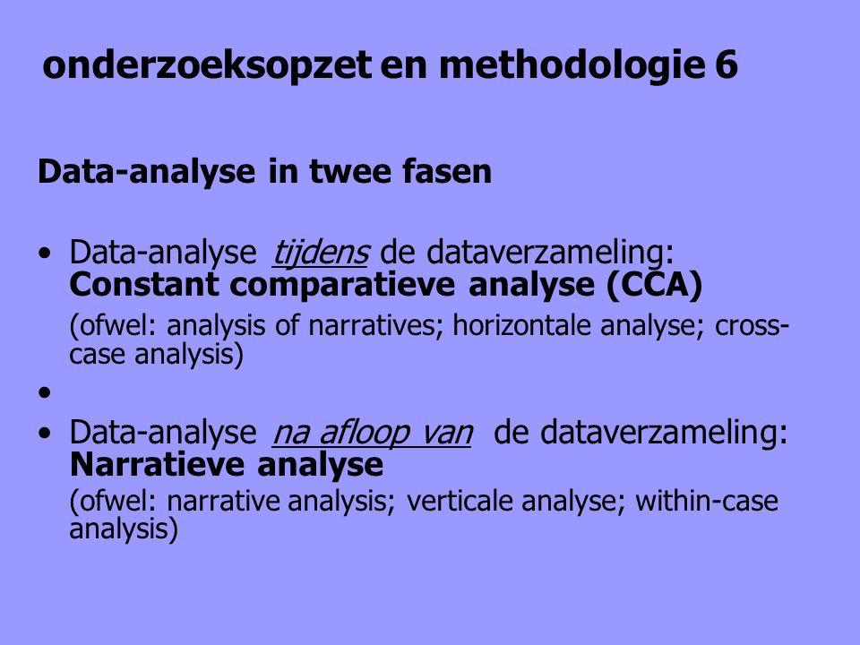 onderzoeksopzet en methodologie 6