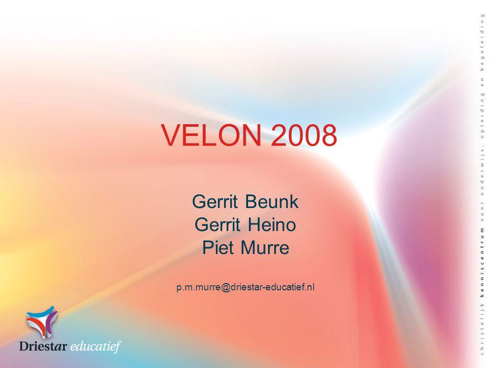 Gerrit Beunk Gerrit Heino Piet Murre p.m.murre@driestar-educatief.nl