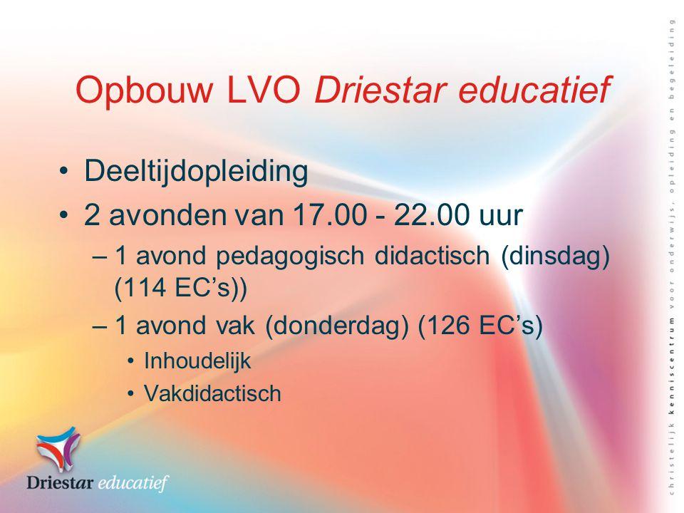 Opbouw LVO Driestar educatief