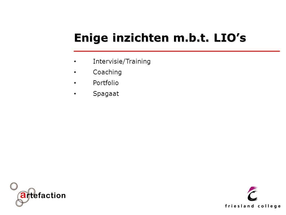 Enige inzichten m.b.t. LIO's