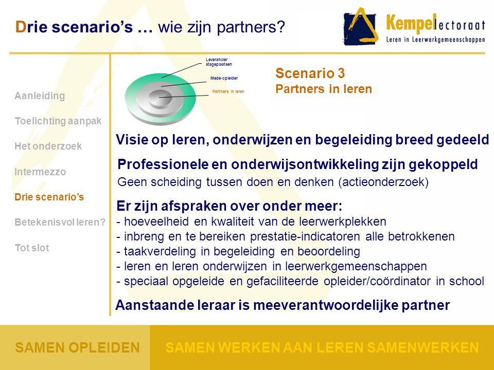 Scenario 3 Partners in leren