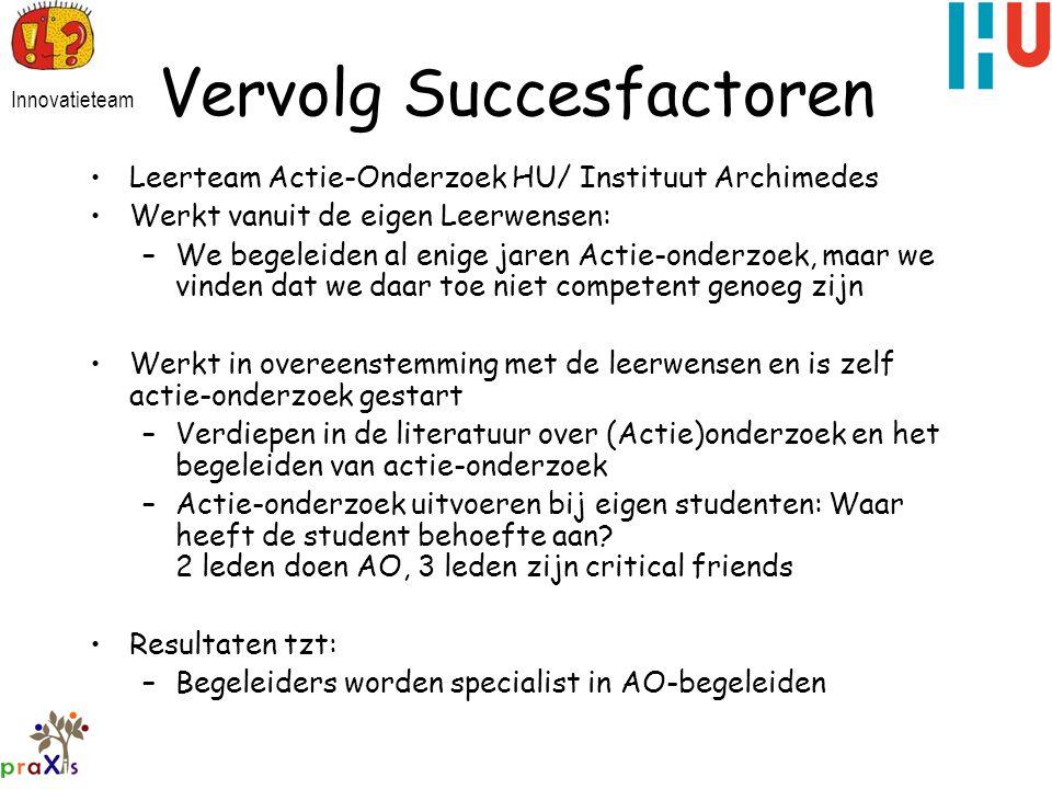 Vervolg Succesfactoren