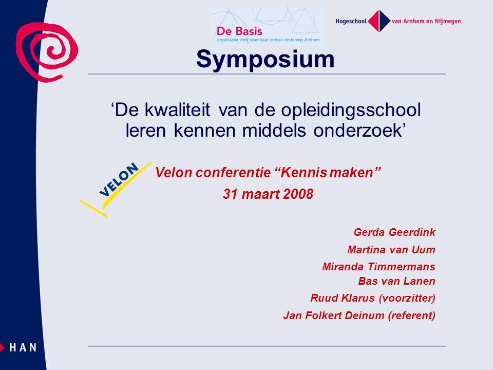 Velon conferentie Kennis maken