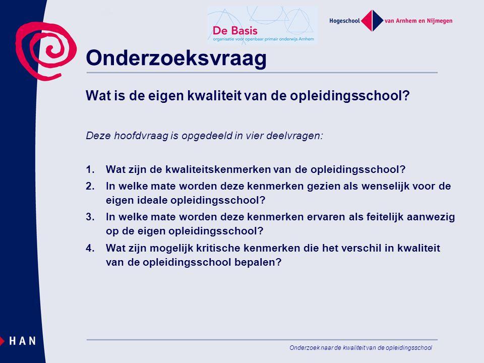 Onderzoeksvraag Wat is de eigen kwaliteit van de opleidingsschool