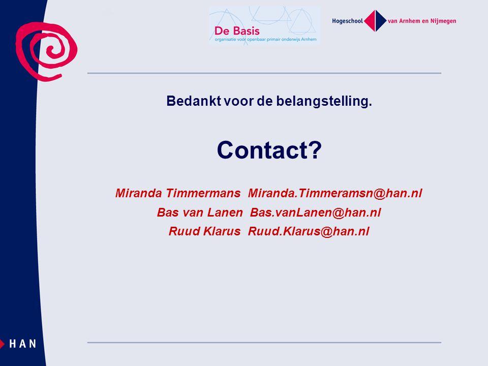 Bedankt voor de belangstelling. Contact