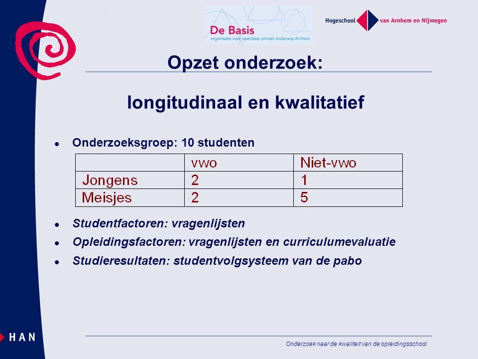 Opzet onderzoek: longitudinaal en kwalitatief