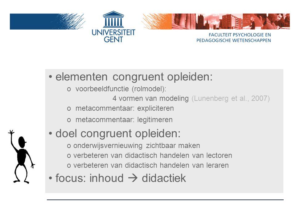 elementen congruent opleiden: