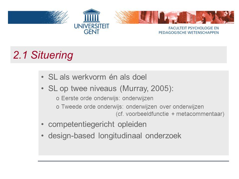 2.1 Situering SL als werkvorm én als doel