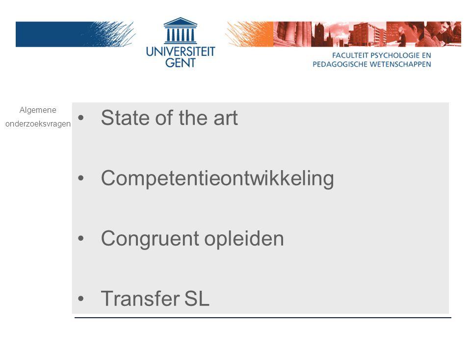 Competentieontwikkeling Congruent opleiden Transfer SL
