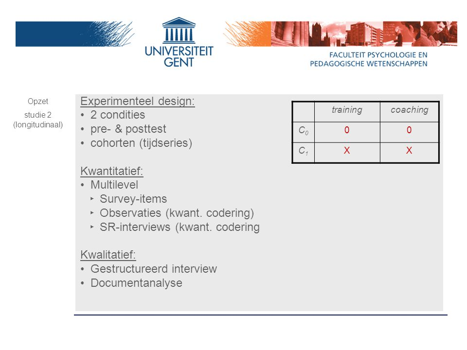 studie 2 (longitudinaal)