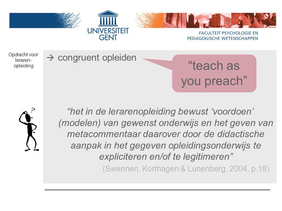 Opdracht voor leraren-opleiding