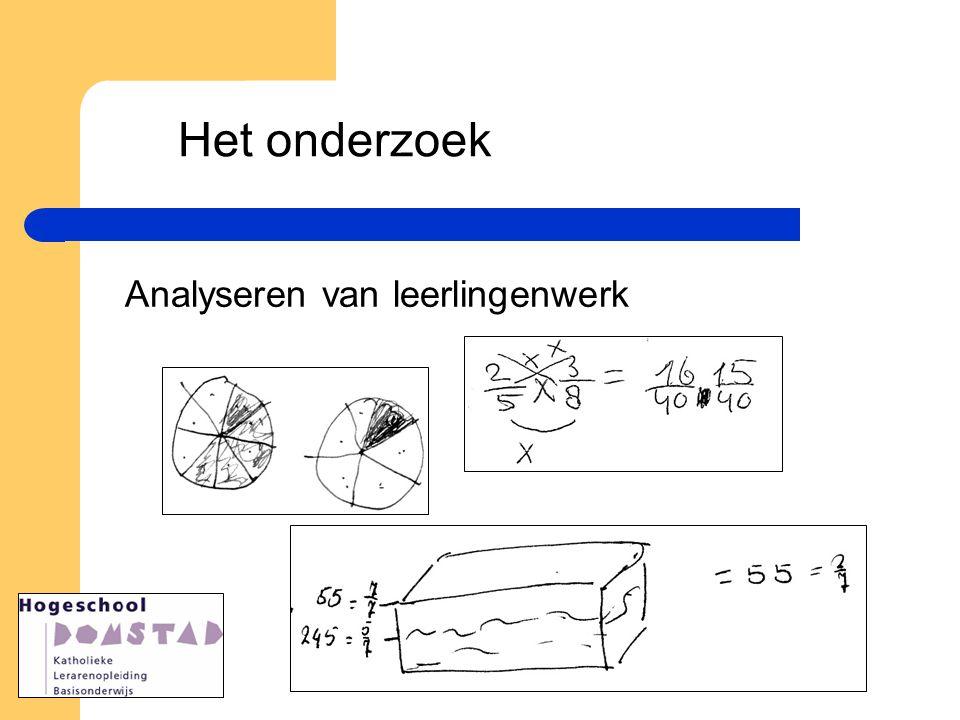 Het onderzoek Analyseren van leerlingenwerk