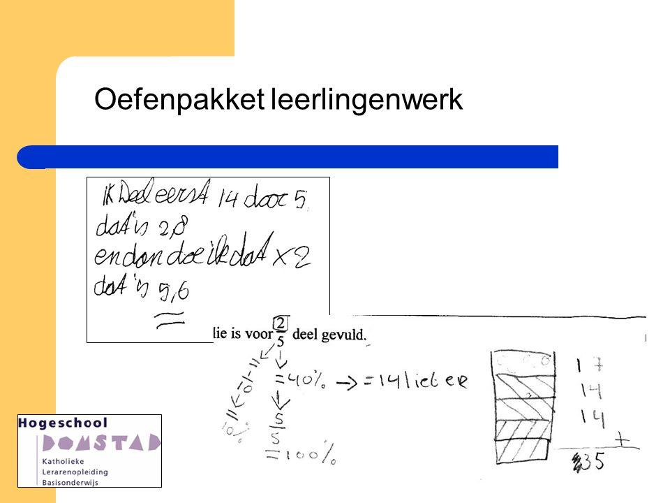 Oefenpakket leerlingenwerk